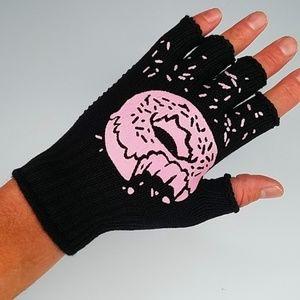 Donut Women's Fingerless Gloves Sprinkles Pastry